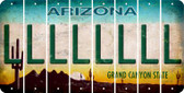 Arizona L Cut License Plate Strips (Set of 8) LPS-AZ1-012