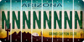 Arizona N Cut License Plate Strips (Set of 8) LPS-AZ1-014