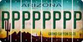 Arizona P Cut License Plate Strips (Set of 8) LPS-AZ1-016