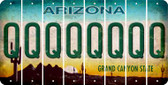 Arizona Q Cut License Plate Strips (Set of 8) LPS-AZ1-017