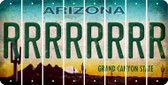 Arizona R Cut License Plate Strips (Set of 8) LPS-AZ1-018