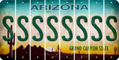Arizona S Cut License Plate Strips (Set of 8) LPS-AZ1-019