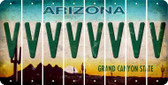 Arizona V Cut License Plate Strips (Set of 8) LPS-AZ1-022