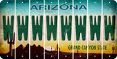 Arizona W Cut License Plate Strips (Set of 8) LPS-AZ1-023