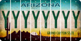 Arizona Y Cut License Plate Strips (Set of 8) LPS-AZ1-025