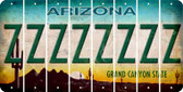 Arizona Z Cut License Plate Strips (Set of 8) LPS-AZ1-026