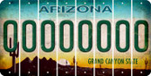 Arizona 0 Cut License Plate Strips (Set of 8) LPS-AZ1-027