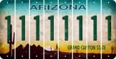 Arizona 1 Cut License Plate Strips (Set of 8) LPS-AZ1-028