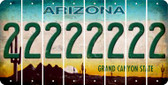 Arizona 2 Cut License Plate Strips (Set of 8) LPS-AZ1-029