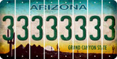 Arizona 3 Cut License Plate Strips (Set of 8) LPS-AZ1-030