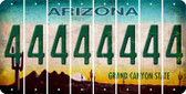 Arizona 4 Cut License Plate Strips (Set of 8) LPS-AZ1-031