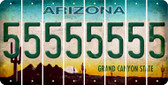 Arizona 5 Cut License Plate Strips (Set of 8) LPS-AZ1-032