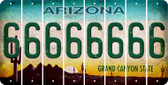 Arizona 6 Cut License Plate Strips (Set of 8) LPS-AZ1-033