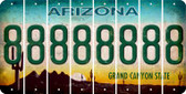 Arizona 8 Cut License Plate Strips (Set of 8) LPS-AZ1-035