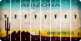 Arizona APOSTROPHE Cut License Plate Strips (Set of 8) LPS-AZ1-038