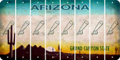 Arizona BASEBALL WITH BAT Cut License Plate Strips (Set of 8) LPS-AZ1-057