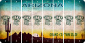 Arizona BASKETBALL HOOP Cut License Plate Strips (Set of 8) LPS-AZ1-058