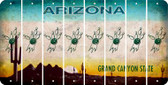 Arizona BOWLING Cut License Plate Strips (Set of 8) LPS-AZ1-059