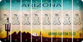 Arizona BABY GIRL Cut License Plate Strips (Set of 8) LPS-AZ1-067