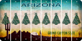 Arizona CHRISTMAS TREE Cut License Plate Strips (Set of 8) LPS-AZ1-077