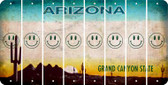 Arizona SMILEY FACE Cut License Plate Strips (Set of 8) LPS-AZ1-089