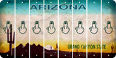 Arizona MIDDLE FINGER Cut License Plate Strips (Set of 8) LPS-AZ1-091