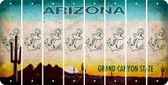 Arizona ANCHOR Cut License Plate Strips (Set of 8) LPS-AZ1-093