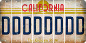 California D Cut License Plate Strips (Set of 8) LPS-CA1-004