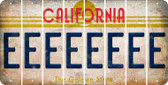 California E Cut License Plate Strips (Set of 8) LPS-CA1-005