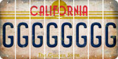 California G Cut License Plate Strips (Set of 8) LPS-CA1-007