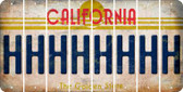 California H Cut License Plate Strips (Set of 8) LPS-CA1-008
