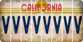 California V Cut License Plate Strips (Set of 8) LPS-CA1-022