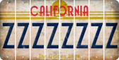 California Z Cut License Plate Strips (Set of 8) LPS-CA1-026