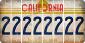 California 2 Cut License Plate Strips (Set of 8) LPS-CA1-029