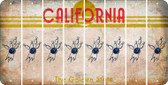 California BOWLING Cut License Plate Strips (Set of 8) LPS-CA1-059