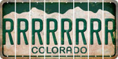 Colorado R Cut License Plate Strips (Set of 8) LPS-CO1-018