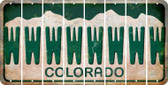 Colorado W Cut License Plate Strips (Set of 8) LPS-CO1-023