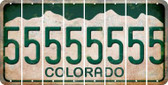 Colorado 5 Cut License Plate Strips (Set of 8) LPS-CO1-032