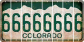 Colorado 6 Cut License Plate Strips (Set of 8) LPS-CO1-033