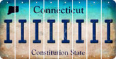 Connecticut I Cut License Plate Strips (Set of 8) LPS-CT1-009