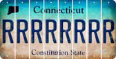 Connecticut R Cut License Plate Strips (Set of 8) LPS-CT1-018