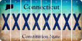 Connecticut X Cut License Plate Strips (Set of 8) LPS-CT1-024