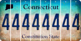 Connecticut 4 Cut License Plate Strips (Set of 8) LPS-CT1-031