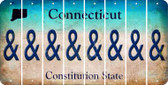 Connecticut AMPERSAND Cut License Plate Strips (Set of 8) LPS-CT1-049