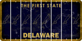 Delaware BASEBALL WITH BAT Cut License Plate Strips (Set of 8) LPS-DE1-057