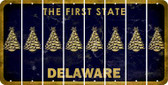 Delaware CHRISTMAS TREE Cut License Plate Strips (Set of 8) LPS-DE1-077