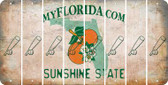 Florida BASEBALL WITH BAT Cut License Plate Strips (Set of 8) LPS-FL1-057