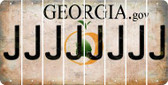 Georgia J Cut License Plate Strips (Set of 8) LPS-GA1-010