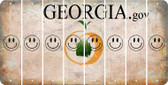 Georgia SMILEY FACE Cut License Plate Strips (Set of 8) LPS-GA1-089