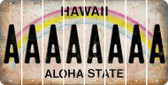 Hawaii A Cut License Plate Strips (Set of 8) LPS-HI1-001